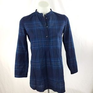 Madewell Wellspring tunic popover nightsail plaid